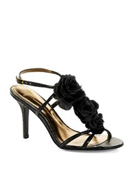 Aerin Collonade Stiletto Sandals Black