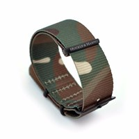 Huckle And Harper Watch Strap Nato Camo Green Brown