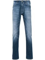 Closed Faded Straight Leg Jeans Blue