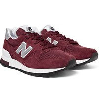 New Balance 995 Suede Mesh And Leather Sneakers Burgundy