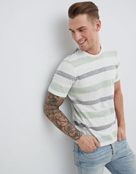 Produkt T Shirt With Faded Stripe White