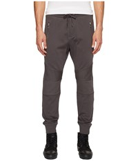 The Kooples Jogging Trousers With Kneepads And Front Zip Pockets Khaki Grey Men's Casual Pants Brown