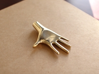 Paperweight Hand In Polished Brass By Carl Aubock By Carl Aubock Oen Shop