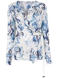 Tufi Duek Printed Blouse Blue