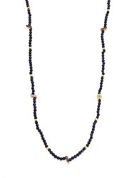Shana Gulati Tulum Thebe Diamond And Sunstone Necklace Dark Blue