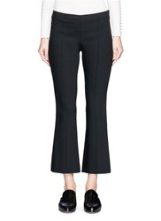 The Row 'Beca' Virgin Wool Blend Cropped Flared Pants Black