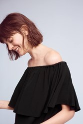Anthropologie Fallon Off The Shoulder Top Black