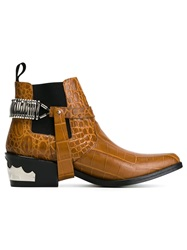 Toga Pulla Western Style Ankle Boots Nude And Neutrals