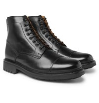 Grenson Joseph Polished Leather Boots Black
