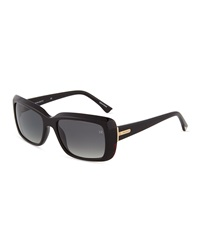 Nina Ricci Square Acetate Sunglasses Dark Tortoise