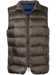Paoloni Quilted Gilet Brown