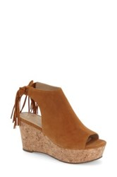 Marc Fisher 'Sueann' Platform Wedge Sandal Women Brown