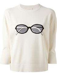 Band Of Outsiders Intarsia Sunglasses Sweater Nude And Neutrals