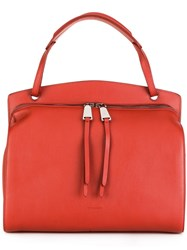 Jil Sander Large Zip Tote Red