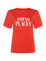 Ban.Do Going Places Red Classic T Shirt Red