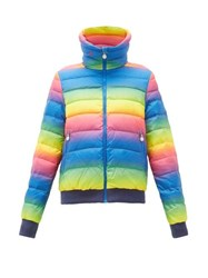 Perfect Moment Queenie Gradient Print Down Filled Ski Jacket Rainbow