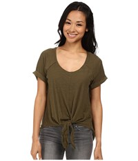 Roxy Middle Ranch Knit Top Military Olive Women's T Shirt