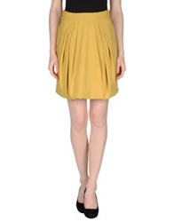 Amen. Mini Skirts Ocher