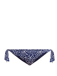 Biondi Masai Side Tie Bikini Briefs Blue Print