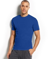 Alfani Men's Short Sleeve Solid T Shirt Deep Navy
