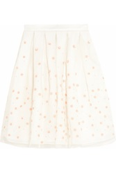 Holly Fulton Embellished Embroidered Silk Organza Skirt