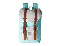 Herschel Little America Mid Volume Blue Tint Glacier Grey Tan Synthetic Leather Backpack Bags