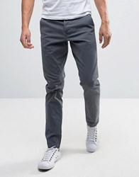 Only And Sons Slim Fit Chinos In Grey Grey