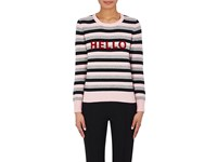 Lisa Perry Women's Hello Goodbye Striped Cashmere Sweater No Color
