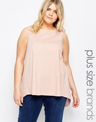 Junarose Sleeveless Jersey Top With Split Back Pink