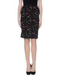 Laura Urbinati Knee Length Skirts Garnet