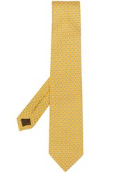 Church's Classic Embroidered Tie Yellow