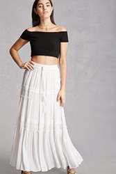 Forever 21 Rd And Koko Crochet Maxi Skirt