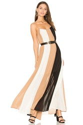 Line And Dot Keira Colorblock Dress Tan