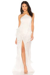 The Jetset Diaries Fara Halter Maxi Dress Ivory