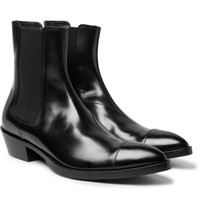 Berluti Heith Austin Glossed Leather Chelsea Boots Black