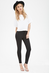 Forever 21 Skinny Scuba Knit Trousers