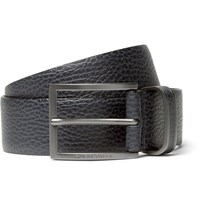 Hugo Boss 3.5Cm Blue Sopprin Full Grain Leather Belt Navy