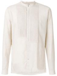 Dnl Mandarin Collar Shirt Nude And Neutrals