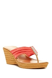 Italian Shoemakers Holland Wedge Sandal Pink