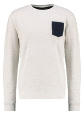 Petrol Industries Sweatshirt Silver Grey Mele Light Grey