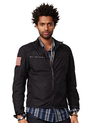 Denim And Supply Ralph Lauren Motorcycle Lined Jacket Polo Black
