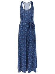 Lygia And Nanny Abstract Print Long Dress Blue