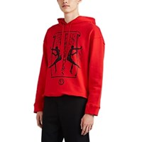 Raf Simons Performers Cotton Terry Hoodie Red