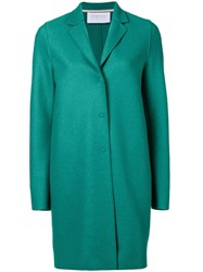 Harris Wharf London Cocoon Midi Coat Green