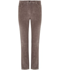 Cc Petite Taupe Straight Leg Cord Jeans