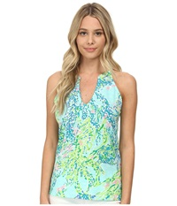 Lilly Pulitzer Arya Tank Top Skye Blue Women's Sleeveless