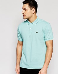 Lacoste Polo Shirt With Croc Logo Regular Fit In Mint Galapagos Green