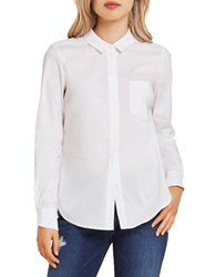 Bcbgeneration Solid Long Sleeve Shirt Optic White