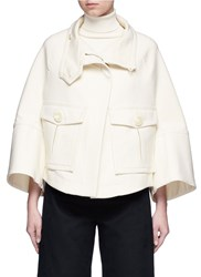 Theory 'Christoris' Double Faced A Line Twill Coat White