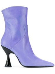 Dorateymur Pointed Toe Ankle Boots Purple